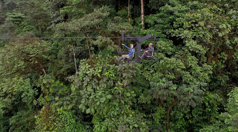The intrepid Sky Bike at the Ecuador eco lodge