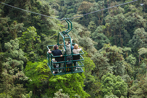 The Dragonfly Canopy Gondola at Mashpi Lodge in Ecuador