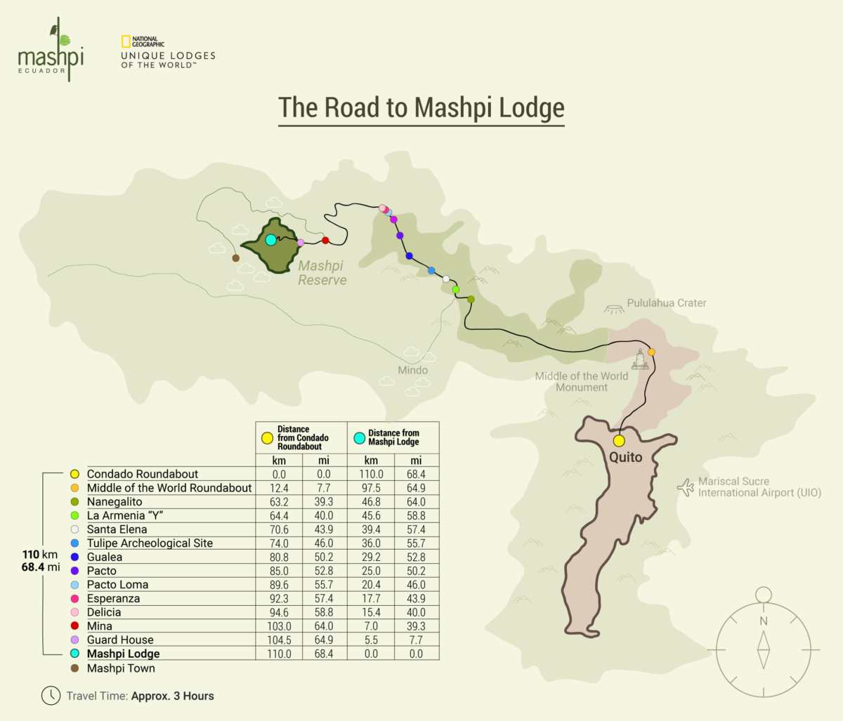 Road to Mashpi Lodge Map