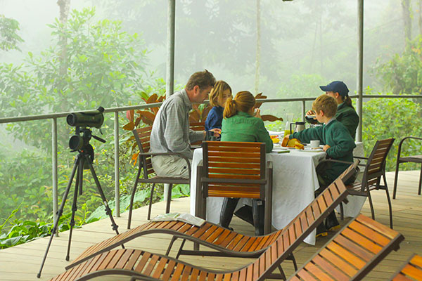 Breakfast at Mashpi Lodge's Life Center
