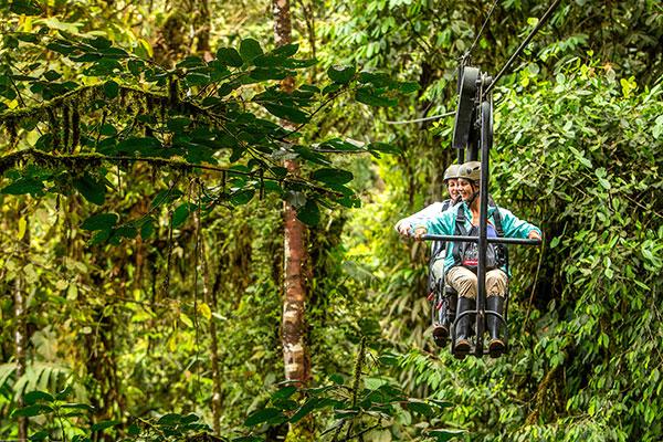 Sky Bike at Mashpi Lodge in Ecuador