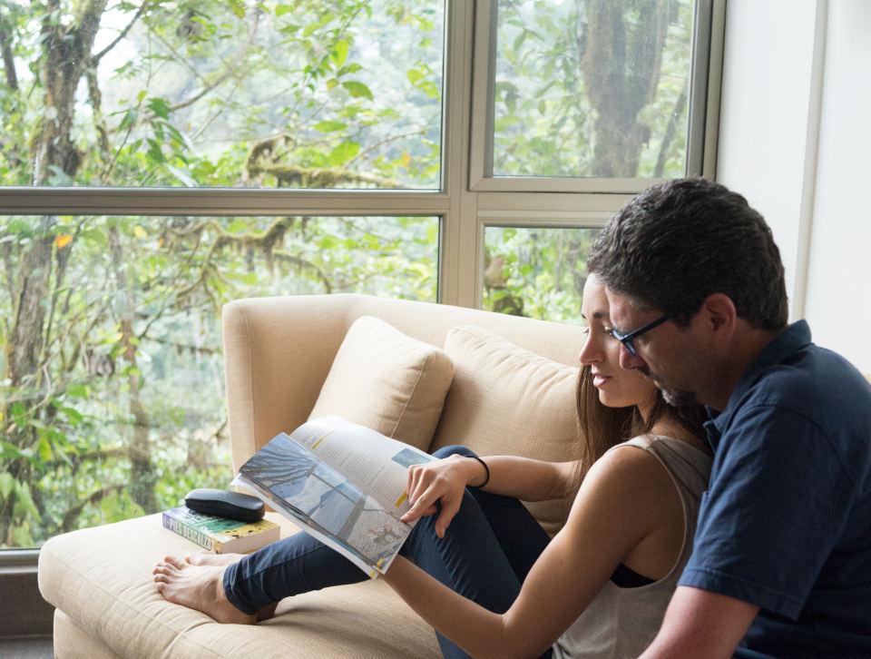 Espacios para parejas en Mashpi Lodge