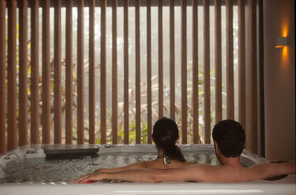 The hot tub at Mashpi Lodge
