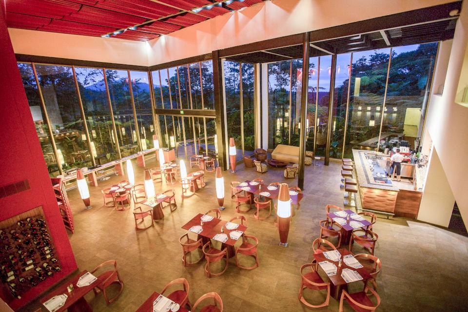 The restaurant at Mashpi Lodge