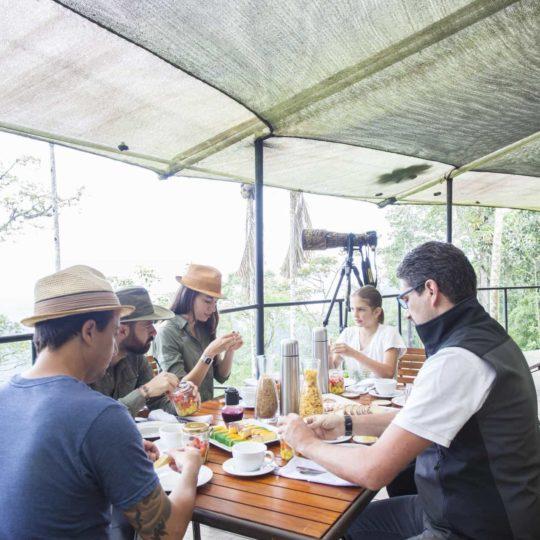 Breakfast at Mashpi Lodge