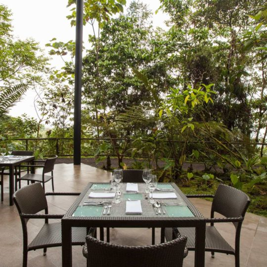 Exterior restaurant at Mashpi Lodge