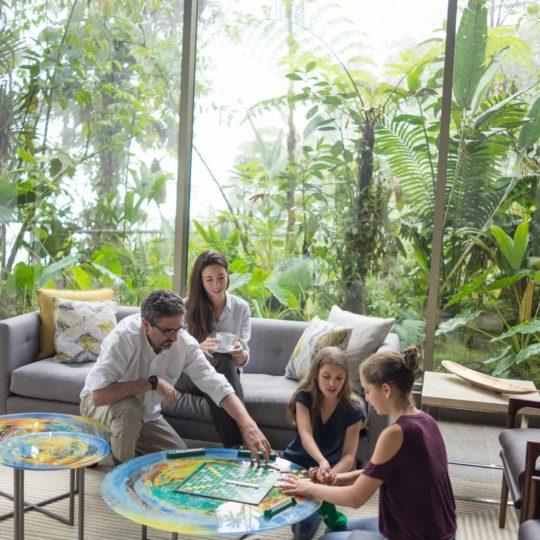 Mashpi Lodge's lounge