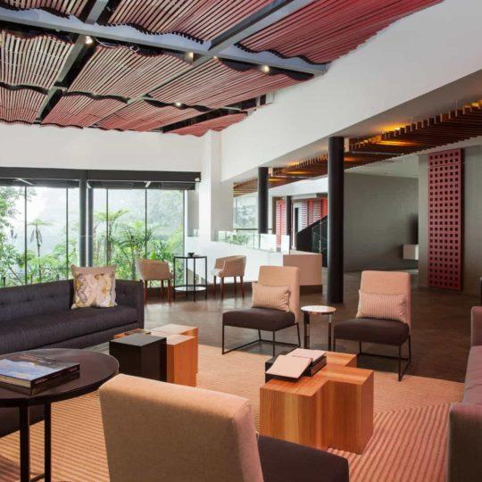 View of Mashpi Lodge's lounge room