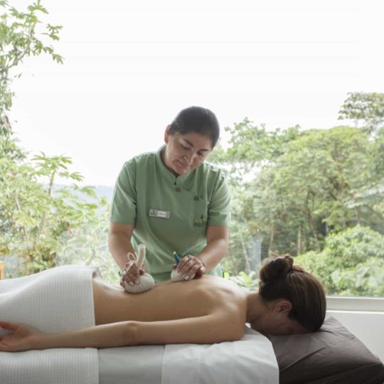 Massage service at Mashpi Lodge