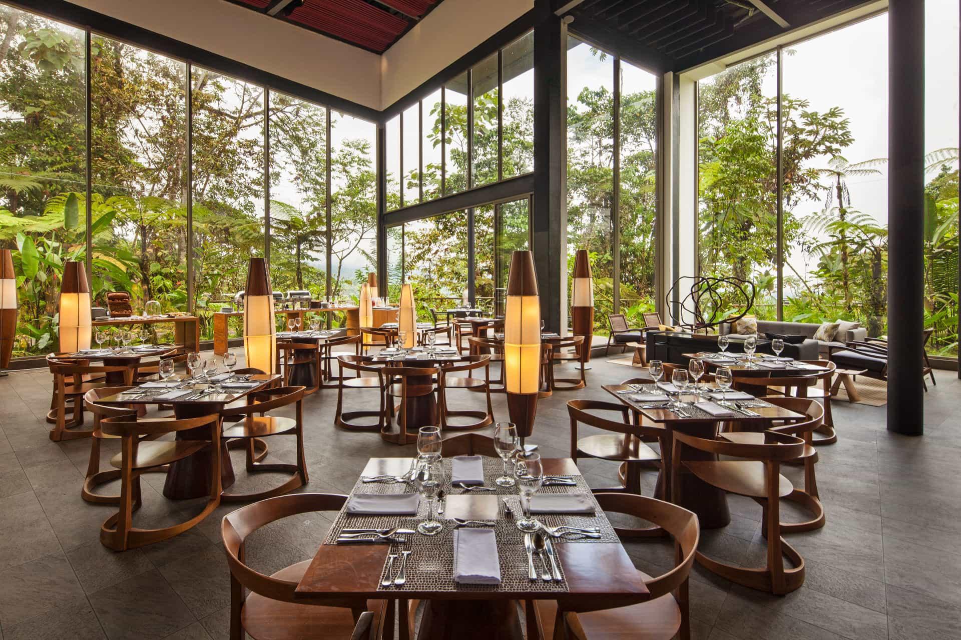 Mashpi Lodge's restaurant