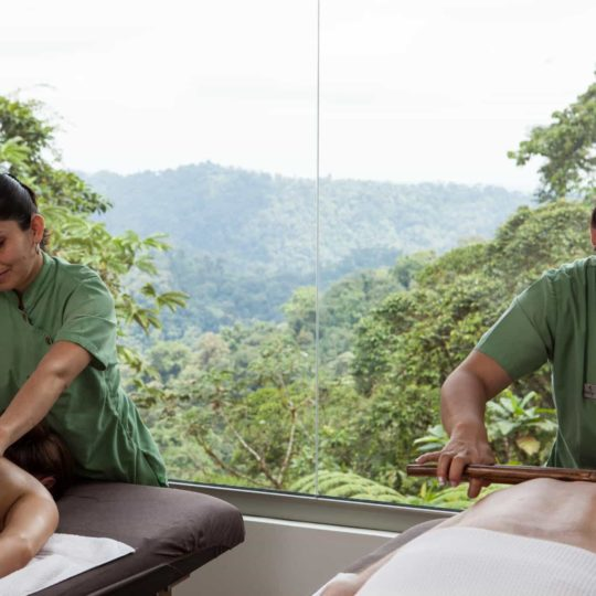 Spa service at Mashpi Lodge