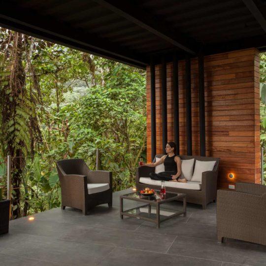 Lounge at Mashpi Lodge's yoga deck