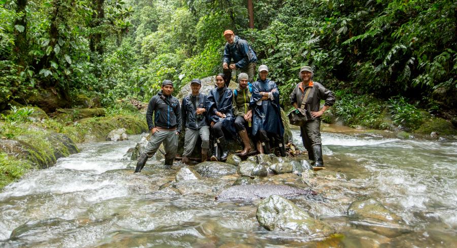 Guide team ejoying some river time at Mashpi Lodge