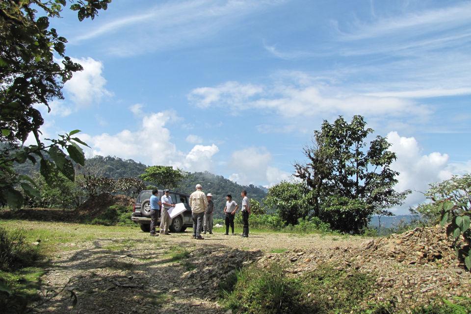 Land evaluation prior to building efforts at Mashpi Lodge