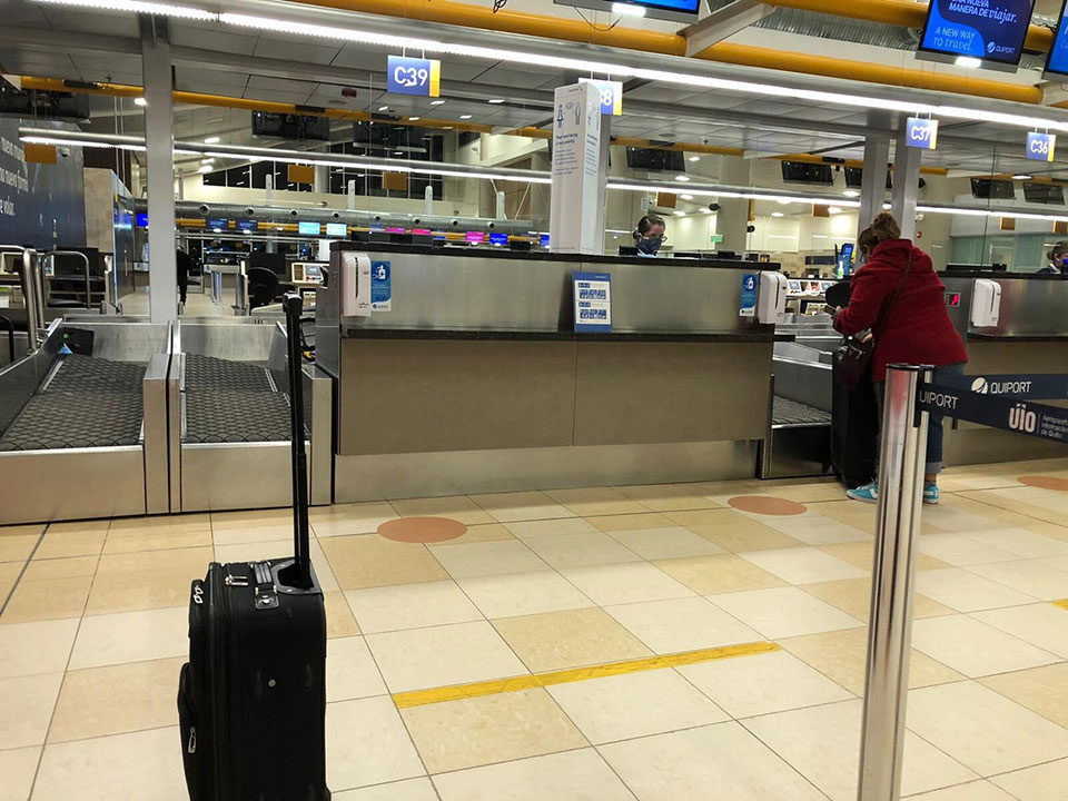 Check-in Counter Quito Airport