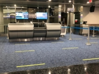 Distance Markers Departure Gate Miami Airport