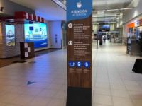 Signage at Quito Airport's Departures Terminal