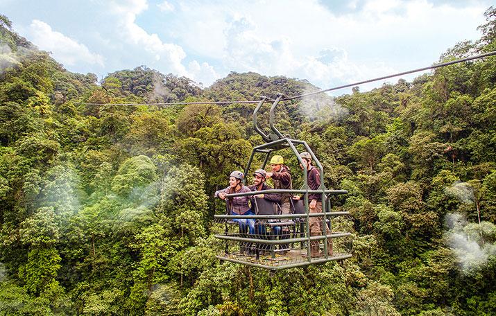 Mashpi Lodge's very own canopy gondola: The Dragonfly